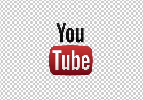 Youtube logo white background