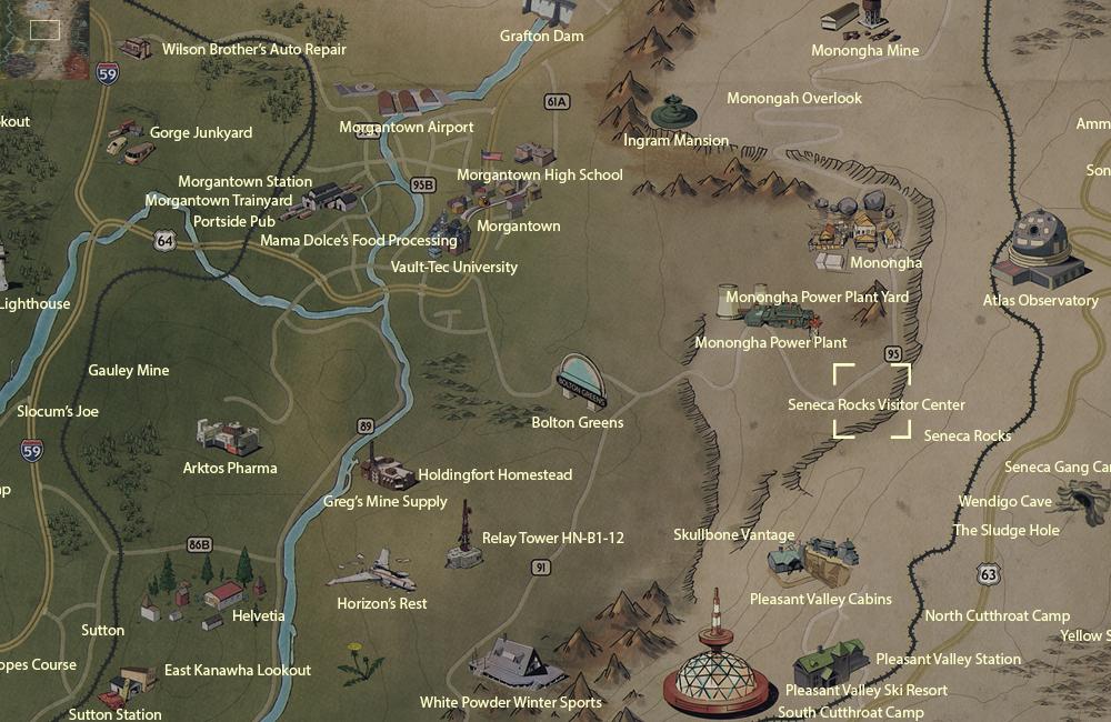 Image Seneca Rocks Visitor Center Map Png Fallout Wiki