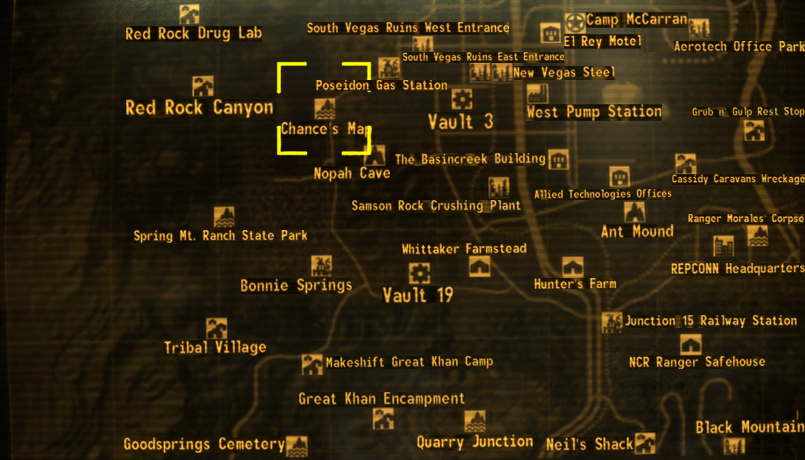 Awesome Fallout Vegas Map Pictures - Printable Map - New ...