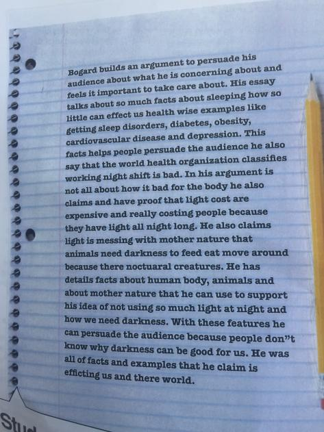 Poorly written essay example