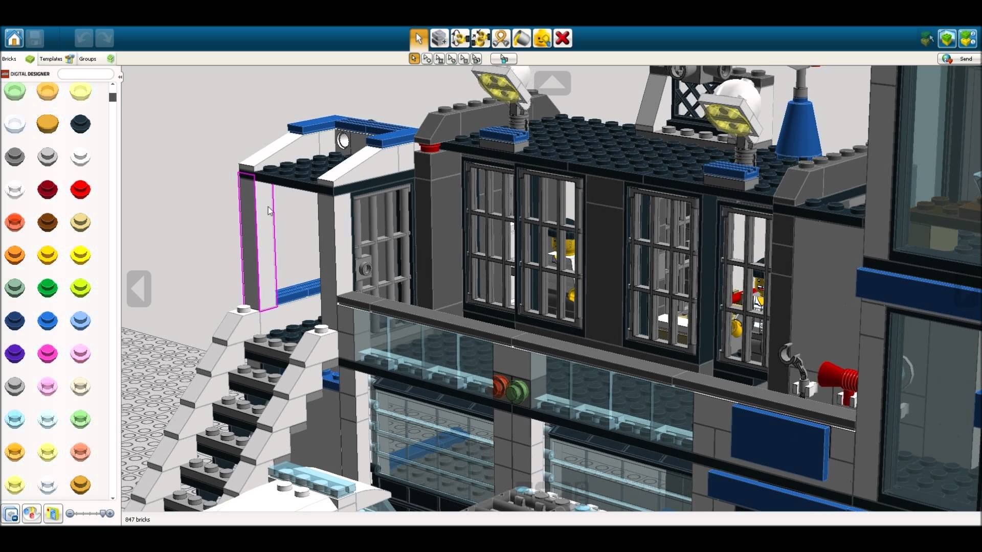 LEGO Digital Designer for Mac full screenshot