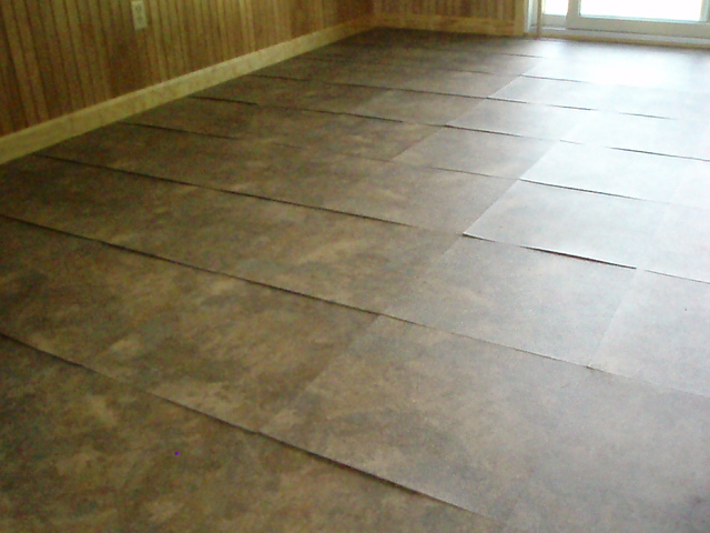 Lifting floor tiles