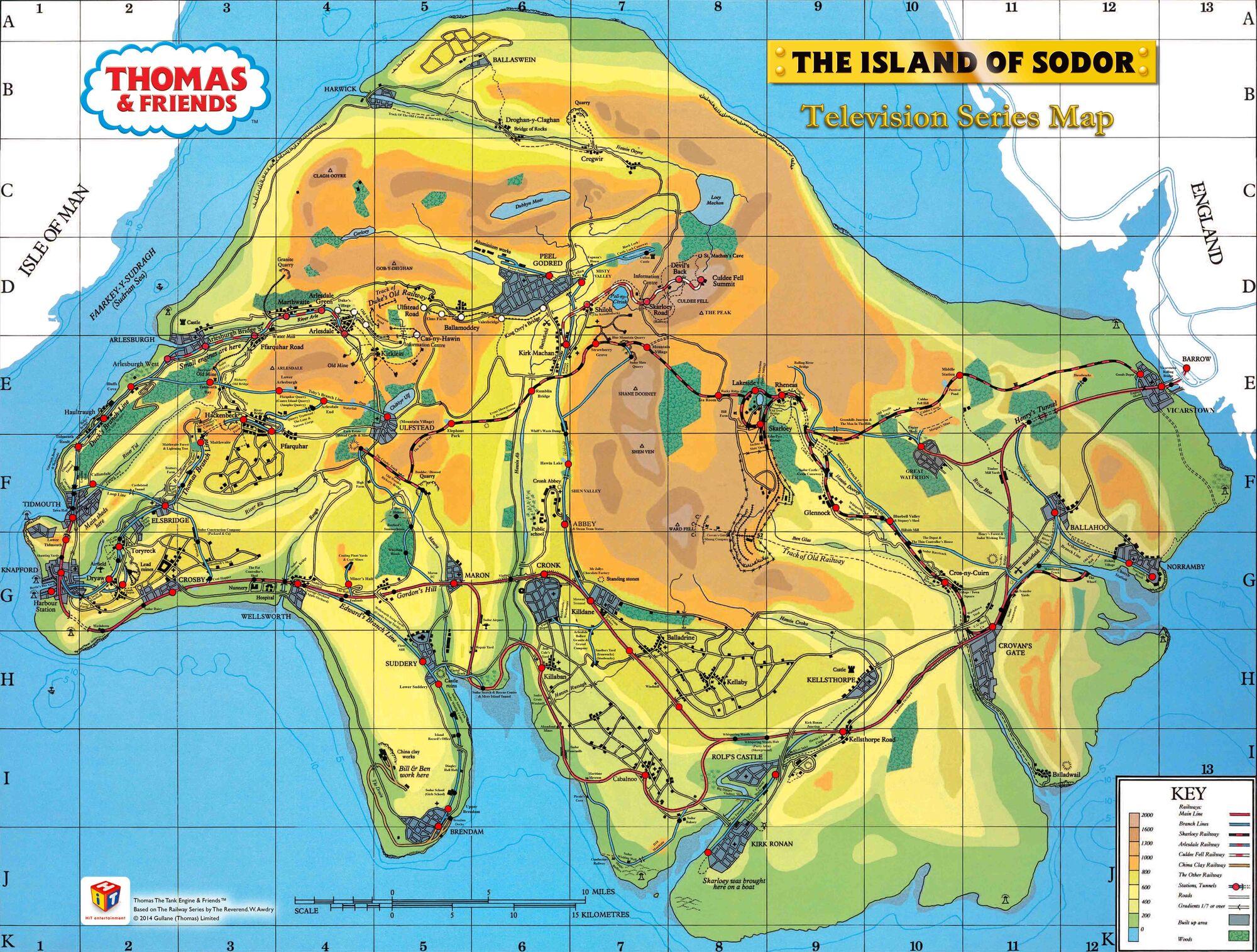 Island Of Sodor Thomas The Tank Engine Wikia Fandom