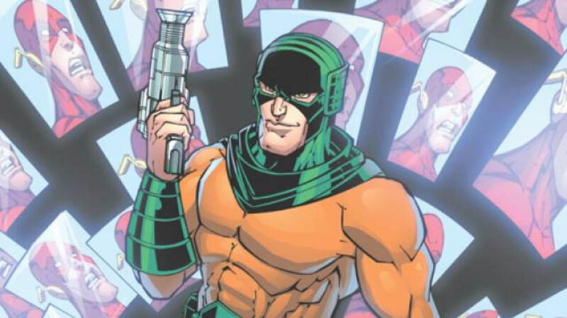 Mirror Master from The Flash comics holding Mirror gun