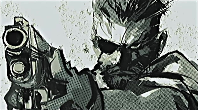 Cutscene art from Metal Gear Solid: Portable Ops.