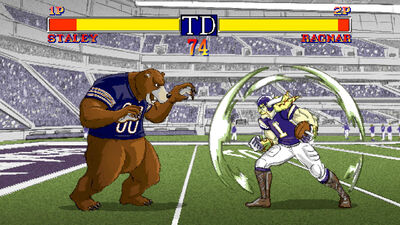 Watch Two NFL Mascots Face Off in This Retro Reimagining of a Fighting Game