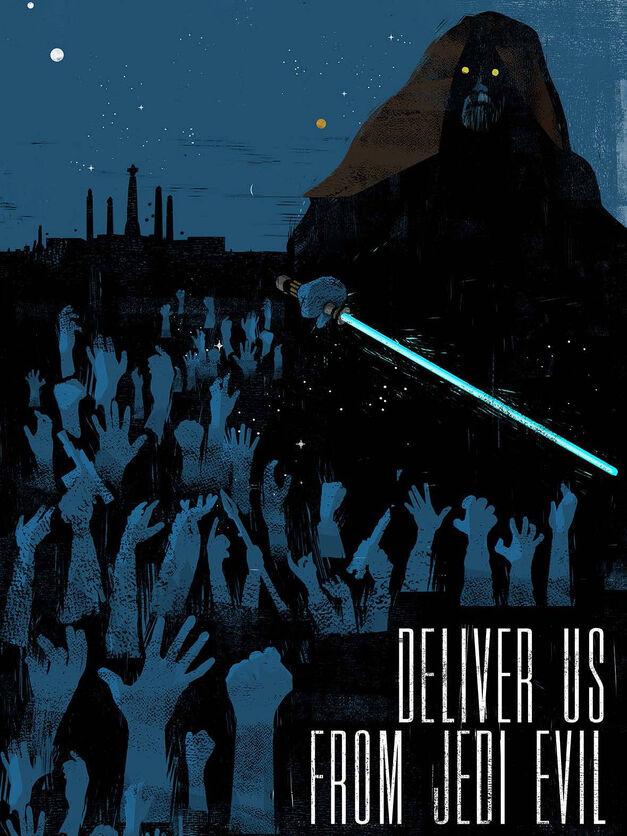 Star Wars propaganda poster Deliver Us from Jedi Evil
