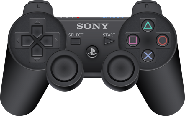 An image of the PS3 SixAxis controller.