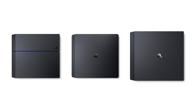 PS4 vs PS4 Pro vs PS4 Slim size