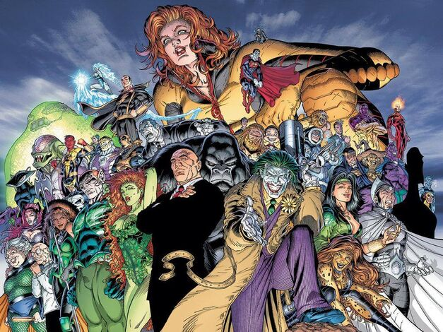 The Injustice League group art
