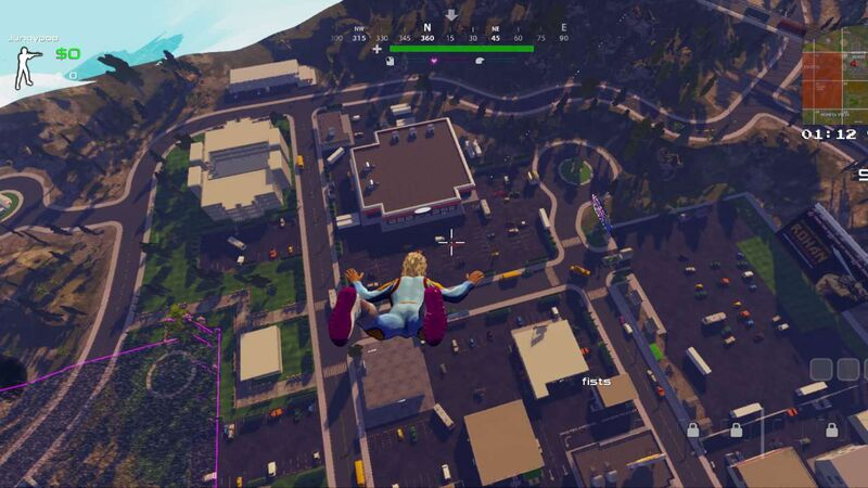 Dropping into the map in Radical Heights