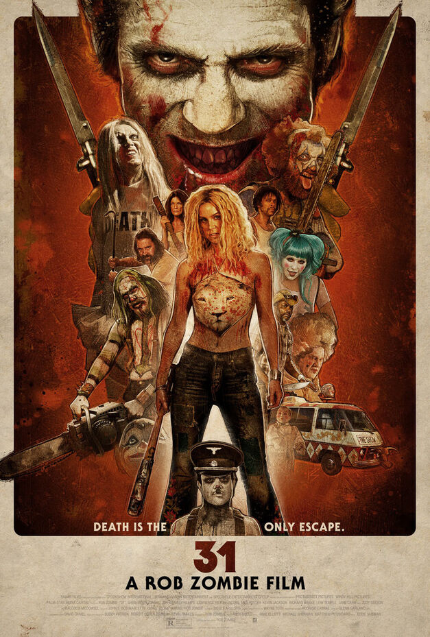 Rob Zombie 31 movie poster