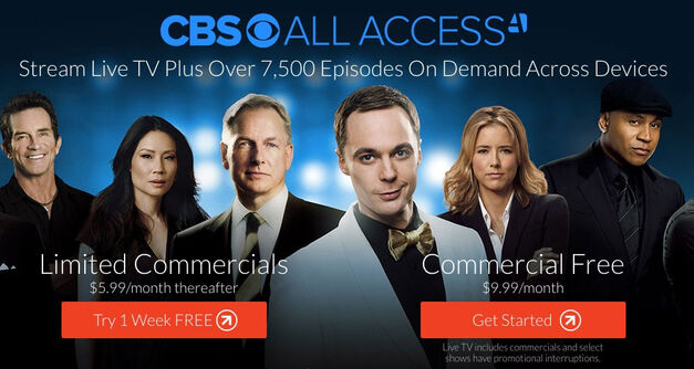 CBS All Access Streaming service prices listed