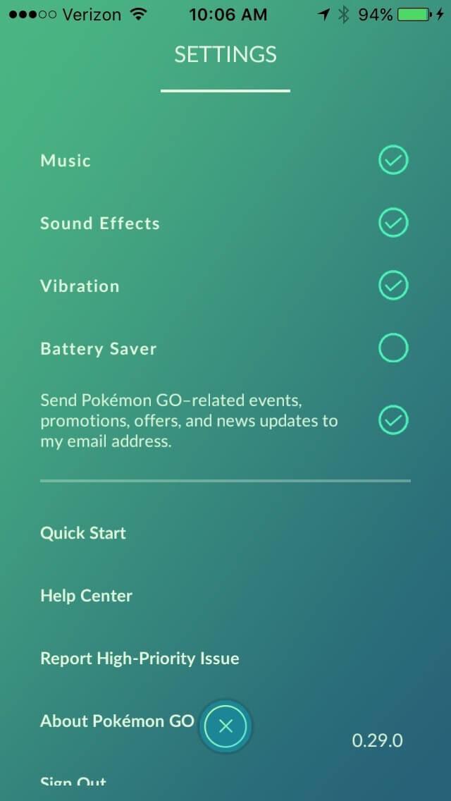 Pokemon Go Starter Guide Battery Saver