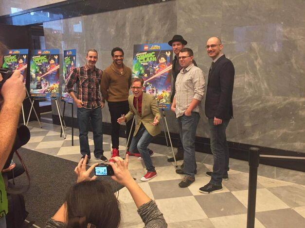 Red carpet screening of LEGO Justice League Cosmic Clash