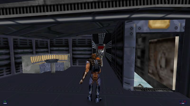 A screenshot of Dash Rendar in Star Wars: Shadows of the Empire.