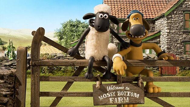 Shaun the Sheep sitting on a fence