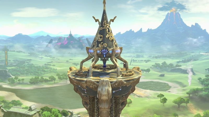Great Plateau map level stage Super Smash Bros Ultimate Zelda Link Breath of the Wild