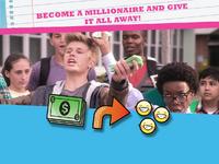 Post become a millionaire emoticon