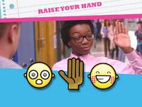Raise your hand emoticon