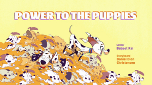 Power to the puppies
