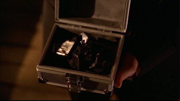 smallville black kryptonite in a secure case