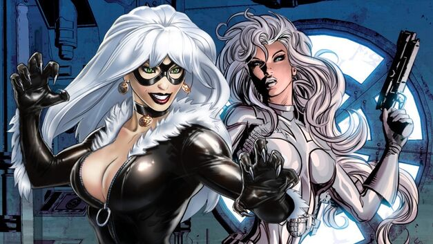 black cat & silver sable silver and black feature
