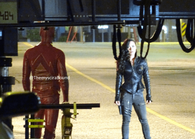 behind the scenes The Flash Jessica Camacho
