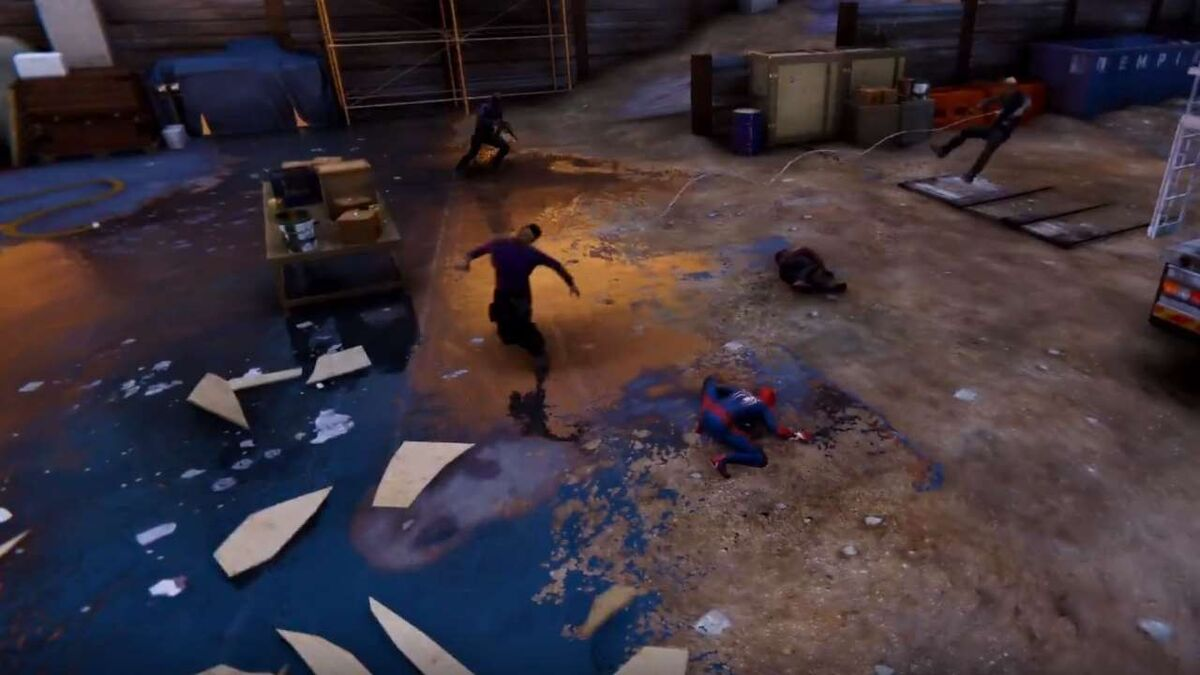 Spider-Man PS4 gadgets Trip Mine pulls two enemies together