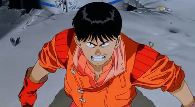 Kaneda from Akira looking angrily at the viewer
