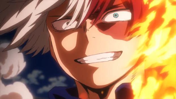 My Hero Academia - Todoroki using flames