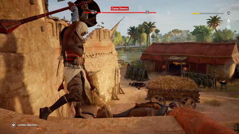 A cinematic execution in Origins combat