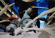 Youko and En in battle
