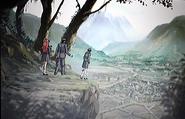 Gang looking over Kasai