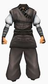 Guanyin-black silk robe-male
