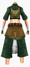 Guanyin-bamboo forest armor-female-back