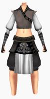 Guanyin-black silk robe-female