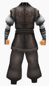 Guanyin-black silk-male-back