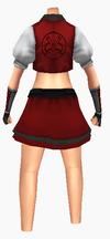 Guanyin-red silk robe-female-back