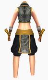 Guanyin-black lotus robe-female-back