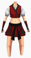 Guanyin-red silk robe-female
