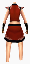 Guanyin-red cloud robe-female-back