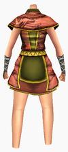 Guanyin-apricot robe-female-back