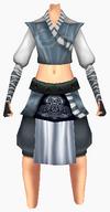 Guanyin-navy silk robe-female
