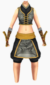 Guanyin-black lotus robe-female