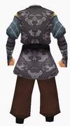 Guanyin-purple cloud robe-male-back