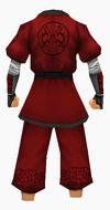 Guanyin-red silk robe-male-back
