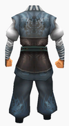 Guanyin-navy silk robe-male-back