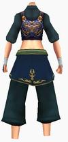 Guanyin-blue moon battle robe-female-back