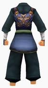 Guanyin-blue moon battle robe-male-back